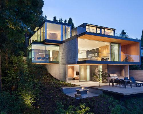 hillside walkout house plans | houzz