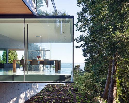 Photos D 39 Architecture Et Id Es D Co De Fa Ades De Maisons Modernes Avec Un Rev Tement En Verre
