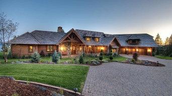 Rustic Appalachian Dovetail Log Home