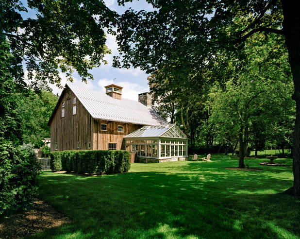 Farmhouse Exterior by Douglas VanderHorn Architects