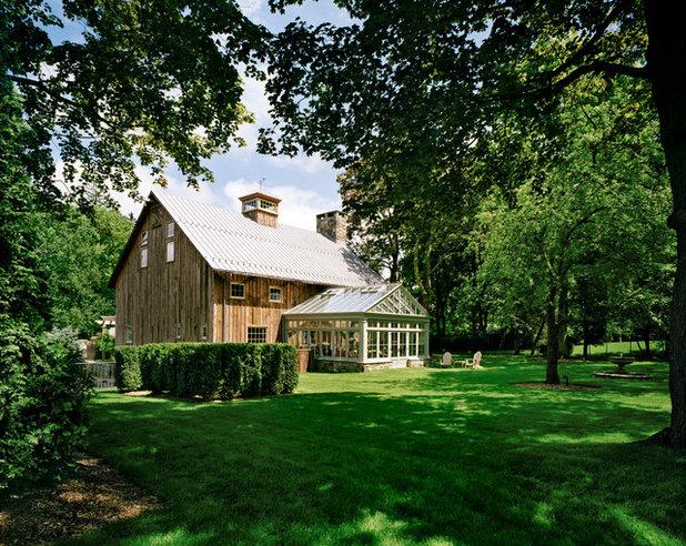 Farmhouse Exterior by Douglas VanderHorn Architects