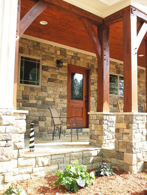 Timber Frame Porch Houzz