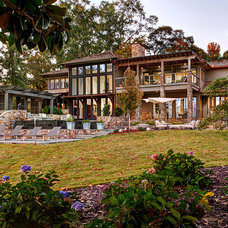 Eclectic Exterior by Dungan Nequette Architects