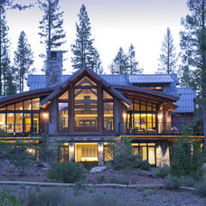 Rustic Exterior by Kelly & Stone Architects