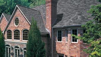 Rustic GAF Slateline English Gray Roof