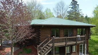 Rustic Log Home Metal Roof