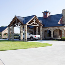 Traditional Exterior by Texas Timber Frames