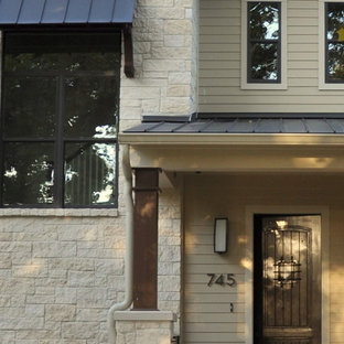 Inspiration for an eclectic exterior home remodel in Houston