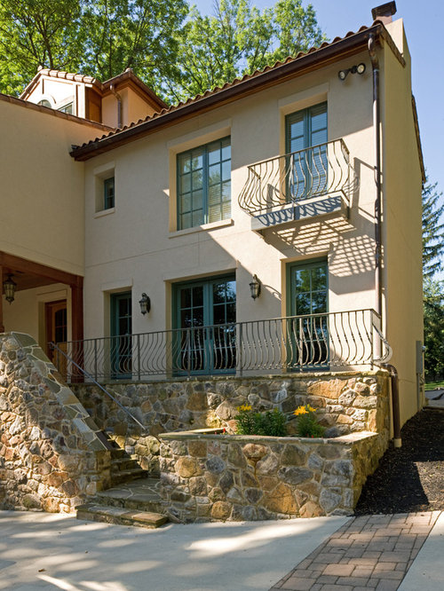 French Country Wrought Iron Railing Home Design Ideas