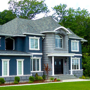 S. Residence | Modern Tale on Center Hall Colonial | Interesting Roof Lines