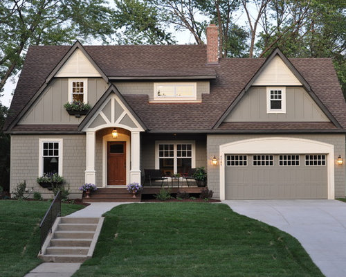 Exterior House Colors With Brown Roof Design Ideas & Remodel