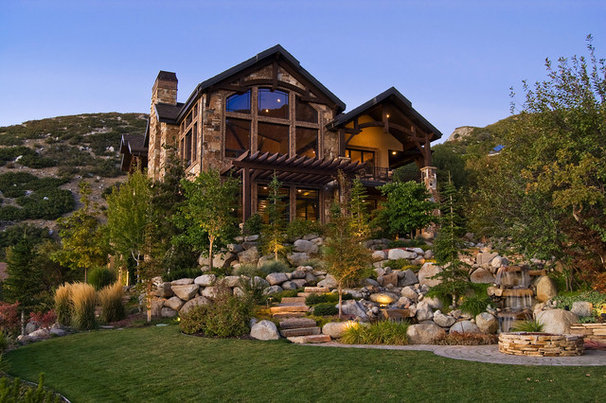 Rustic Exterior by Markay Johnson Construction