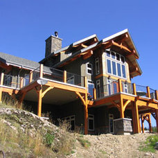 Traditional Exterior by Samuelson Timberframe Design