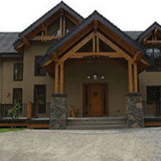 Contemporary Exterior by Samuelson Timberframe Design