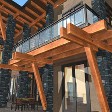 Eclectic Exterior by Samuelson Timberframe Design