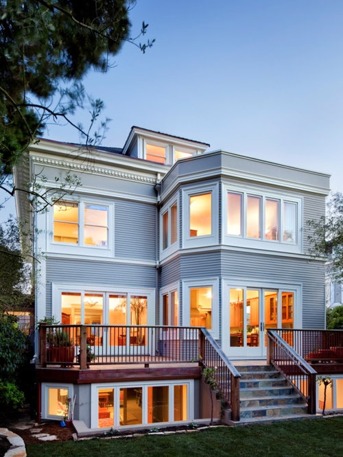 Inspiration For A Timeless Wood Exterior Home Remodel In San Francisco