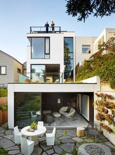 Contemporary Exterior by Jamie Bush & Co.