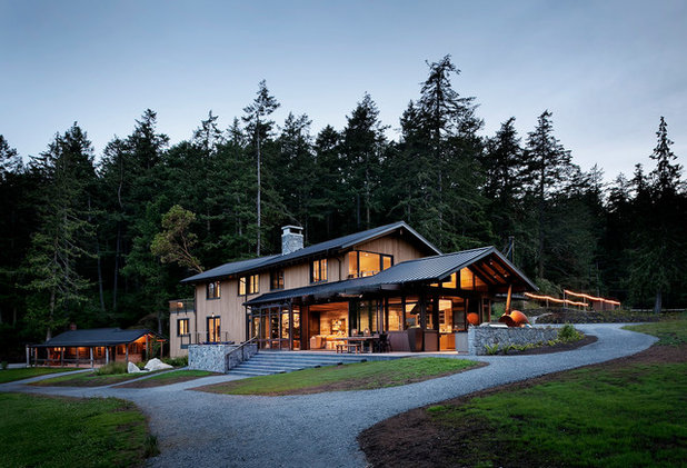 Rustic Exterior by NB Design Group, Inc