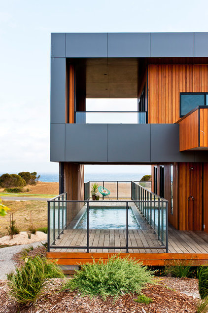 Beach Style Exterior by Ecoliv Sustainable Buildings