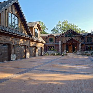 Sandpoint Lodge by Wisconsin Log Homes