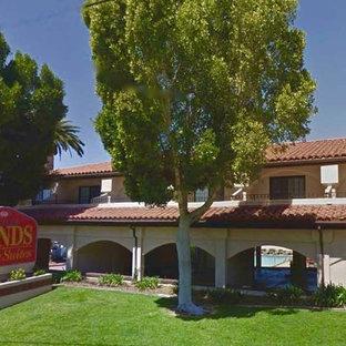Inspiration for a mediterranean exterior home remodel in San Luis Obispo