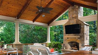 Sandy Springs Outdoor Kitchen & Cabana