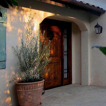 Santa Barbara Spanish Home with Tuscan Accents