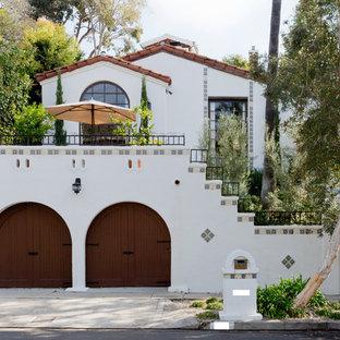 White mediterranean exterior in Los Angeles.