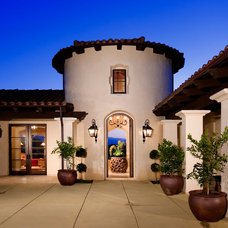 Mediterranean Exterior by Friehauf Architects Inc.