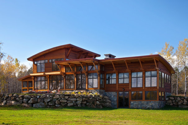 Rustic Exterior by Phinney Design Group