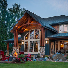 rustic exterior by Northern Sky Developments