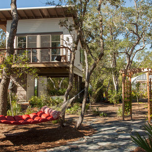 Example of a small mountain style exterior home design in Miami