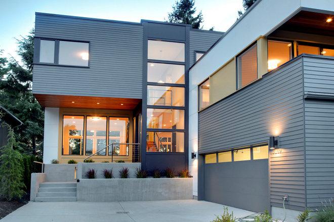 Contemporary Exterior by Ryan Rhodes Designs, Inc.
