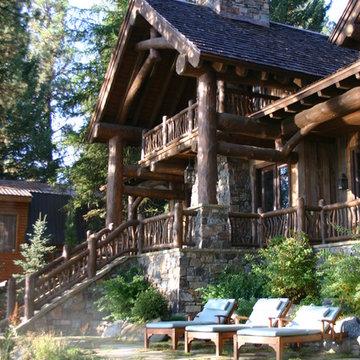 Scissor Log Cabin