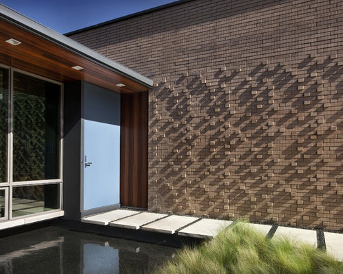 Houzz Modern Brick Parapet Wall Exterior Design Ideas Remodel