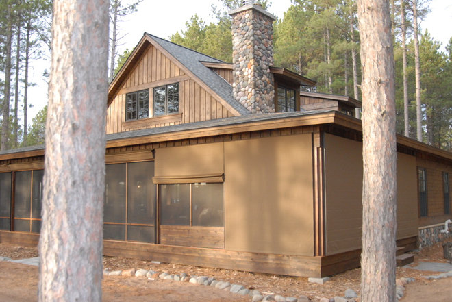 Rustic Exterior by Weather Queen Shades LLC