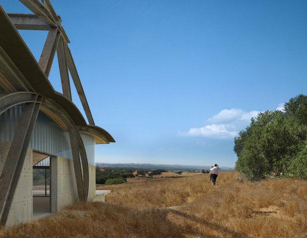 Modern Exterior by Jennifer Weiss Architecture