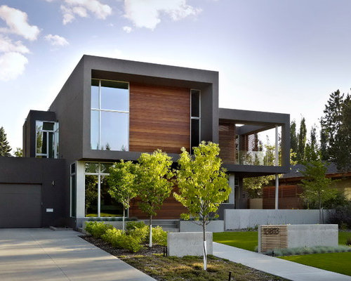Edmonton exterior home design ideas remodels photos for Modern home decor edmonton