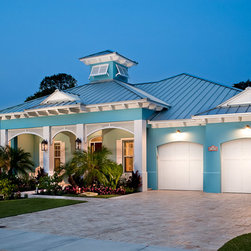 Tropical Blue House Color Exterior Design Ideas Pictures Remodel Decor