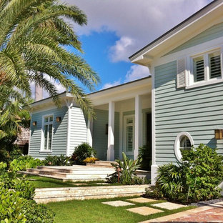 Island style exterior home photo in Miami