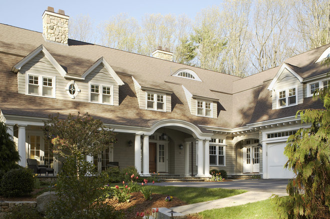 Traditional Exterior by Oak Hill Architects