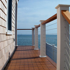 Beach Style Porch by Peter McDonald Architect
