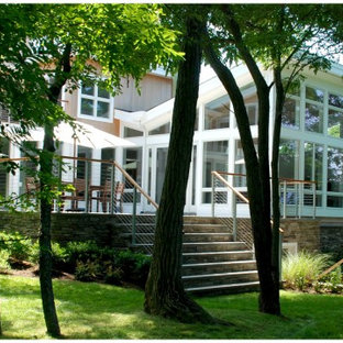 Sunroom And A Deck Houzz