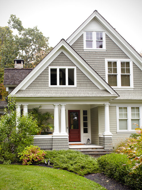 Light gray siding home design ideas pictures remodel and for Light gray exterior paint