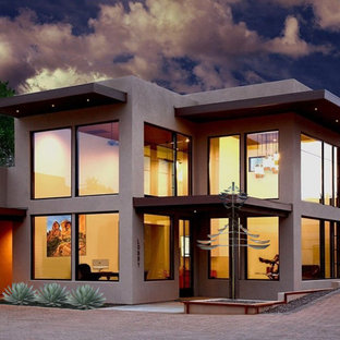 Inspiration for a modern exterior home remodel in Phoenix