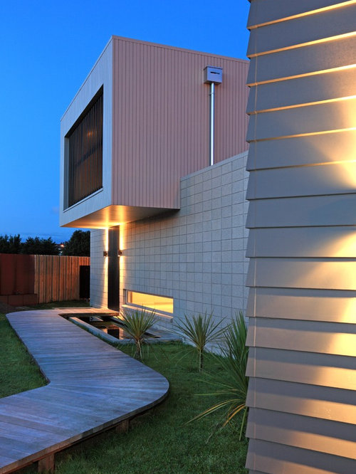 Modern weatherboard home design ideas photos for Modern weatherboard home designs