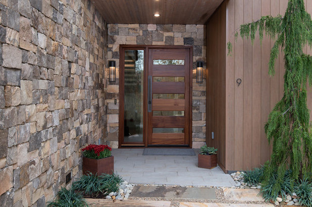 Modern Exterior by Living Stone Design + Build