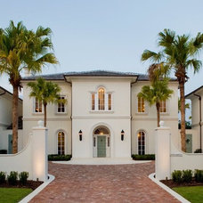 Mediterranean Exterior by Land Plus Associates, Ltd