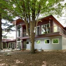 Rustic Exterior by Scott Christopher Homes/Surpass Renovations