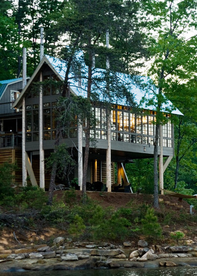 Rustic Exterior by Jeffrey Dungan Architects